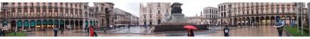 panorama of piazza del duomo, milan