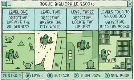 Rogue Bibliophile: 2500 AD, by Tom Gauld