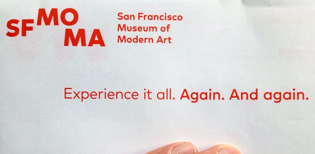 Again. And again. SFMOMA promo mailing.