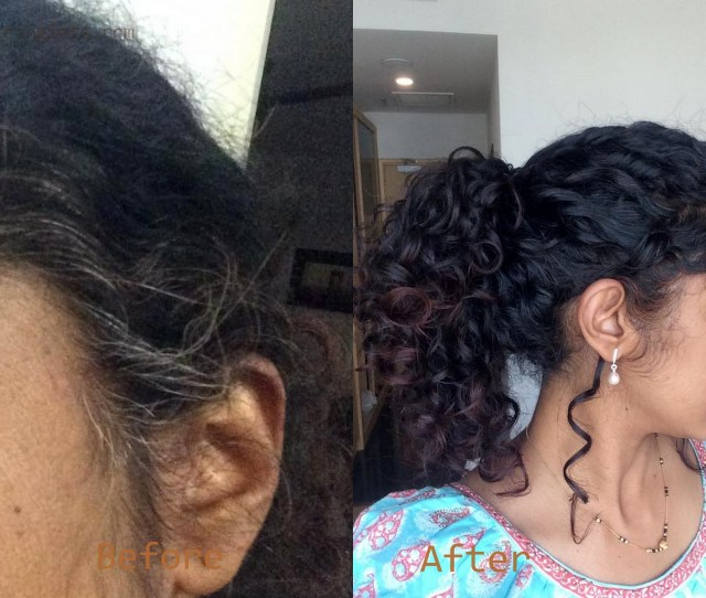 Henna With Beet Before After