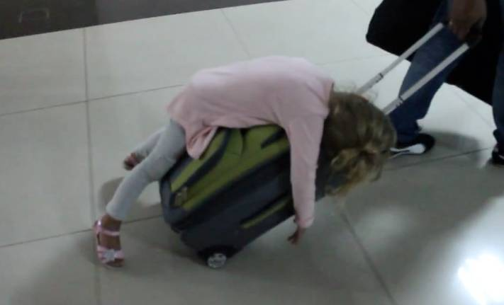 Dragging Your Kid Around The Airport Literally Rtm