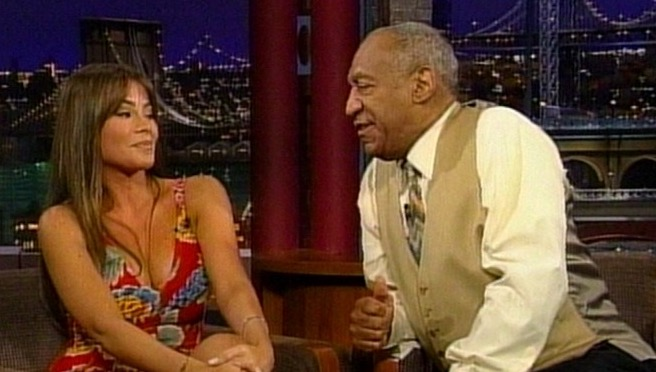 Bill Cosby Gets Creepy With Sofia Vergara During Late