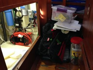 Tools cleared to access water maker plumbing