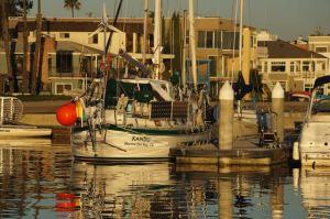 Alamitos Bay Yacht Club sunrise with Kandu