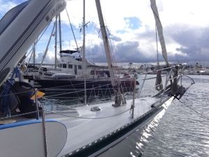Thundershowers at San Diego's Southwestern Yacht Club
