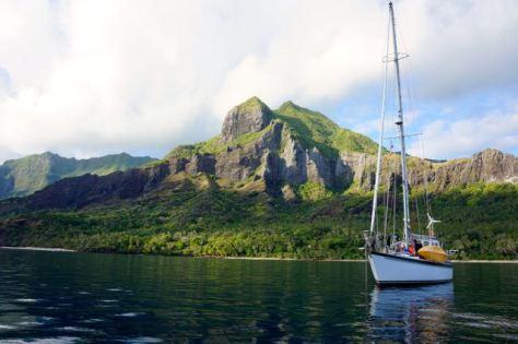 Kandu in Anaho Bay, Nuku Hiva, Marquesas