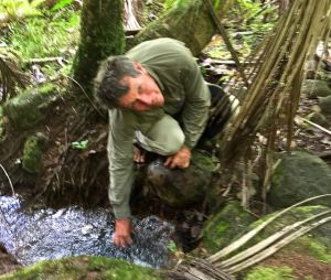 Eric collecting natural carbonated springwater