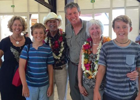 Rosie & Ron's arrival at Nuku Hiva Airport