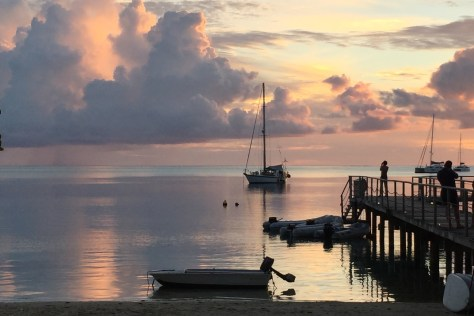 Kandu and a Huahine Sunset
