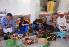 Eid ul-Adha 'begibung' at Medana Bay mosque: Bolo, Bryce, Trent & Eric