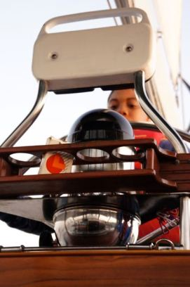 Cory at the helm