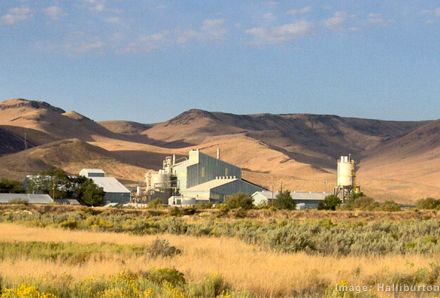 The Baroid mine in Dunphy, NV