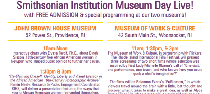 March 12 Is Museum Day Live! at the RIHS