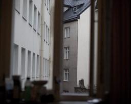 """Pelastusarmeijan asuntola """"Rälläkkä"""". Janne 27-v. on asunut asuntolassa kuukauden. Jannen huone."""