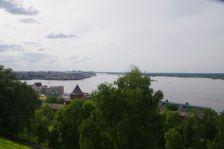 Blick vom Kreml auf den Zusammenfluss von Oka und Wolga