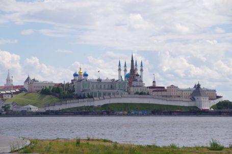 Blick auf den Kreml von Kasan