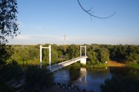 Bridge over Ural from Europe to Asia
