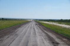 Die Hauptstraße von der Grenze nach Aqtöbe