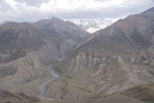 Blick auf Afghanistan, von der Pamir-Auffahrt aus.