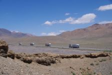 Der Pamir-Highway, Haupttransitroute von Kirgistan/China, ...