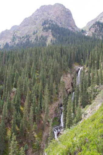 Blick auf die Wasserfälle und...