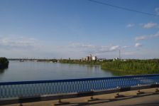 Wir queren den Jertis in Pavlodar...