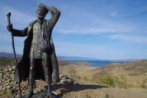 """Unser erster Blick auf den Baikalsee bei dem """"Wanderer"""""""