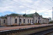 Slyudyanka, Endstation der Zirkumbaikalbahn, mit dem Marmorbahnhof...