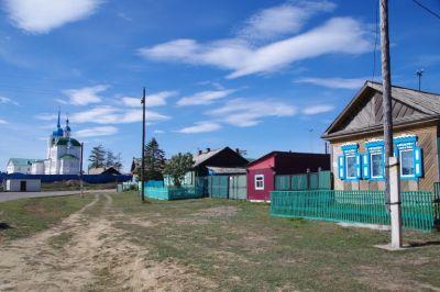 Nett, dieser kleine Ort Posolskoye am Baikalsee mit...