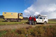 Treffpunkt auf der 35km langen Piste mit Mariann und Vicente aus Ceuta