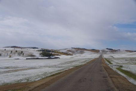 """""""Winterüberraschung"""" - Schnee und -10°C auf der Strecke nach Ulan Bator"""