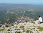 Blick auf Kruja in Albanien