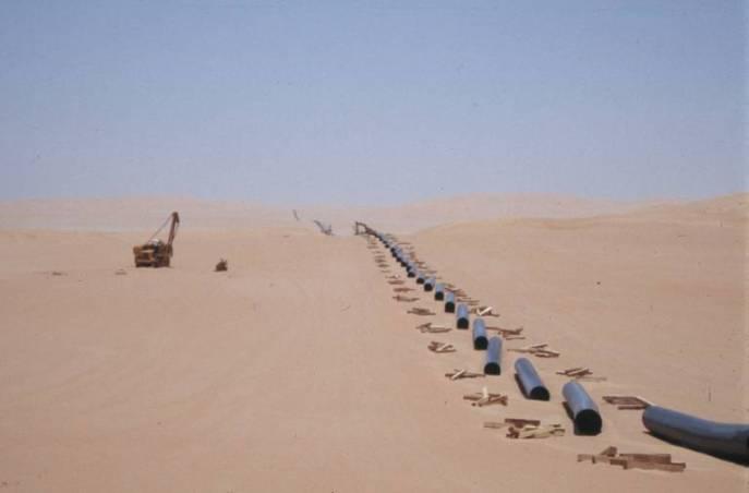 Hier wird eine Pipeline gebaut