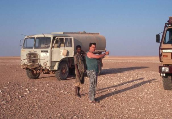 Besuch von einem Wassertank-Lkw-Fahrer