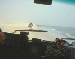 Auf der Strandpiste nach Nouakchott...