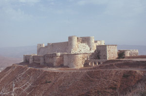 """Die imposante Kreuzfahrer-Burg """"Krak des Chevaliers"""" (1031- 1271)"""