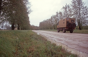 Straße in Lettland