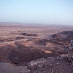 Ausblick vom Plateaurand auf unsere weiter Piste