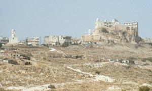 Am Fuße des Cherubin das Kloster Sayyid Naya...