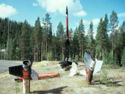 Das Raketenversuchsgelände in Esrange