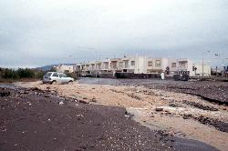 Ein sindflutartiger Regen hat für reichlich Überschwemmung gesorgt