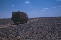 Die Piste zum Wadi Mathendous...