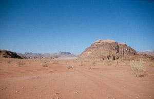 Südliche Einfahrt ins Wadi Rum
