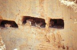 alte Vorratsnischen im Jabal Akhdar