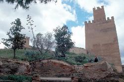 Die befestigte Residenz Alcazaba...