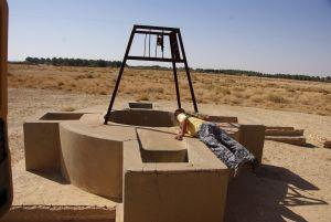 Der Brunnen bei Chbika ist trocken gefallen