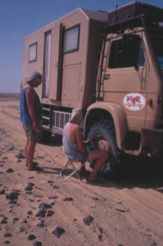Tja, nun bleibt nur noch Luft aus den Reifen abzulassen