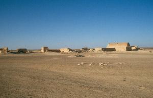 Das einsame Wüstenschloss Qasr Tuba