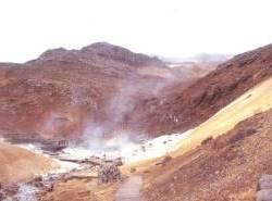 Im Geothermalgebiet von Seltún...