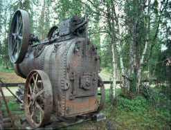 Eine Dampfmaschine in Tankavaara